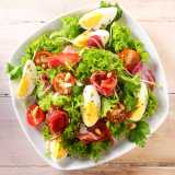 Egg and Parma Ham Salad <sub>with Pine Nuts</sub>