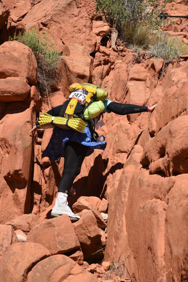 Elaine's rock climbing course turned out to be crucial