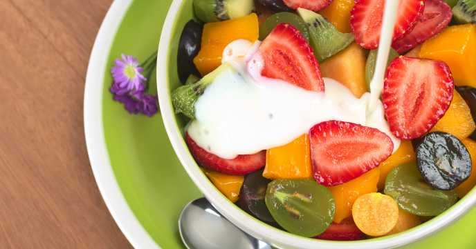 Fresh And Healthy Fruit Salad
