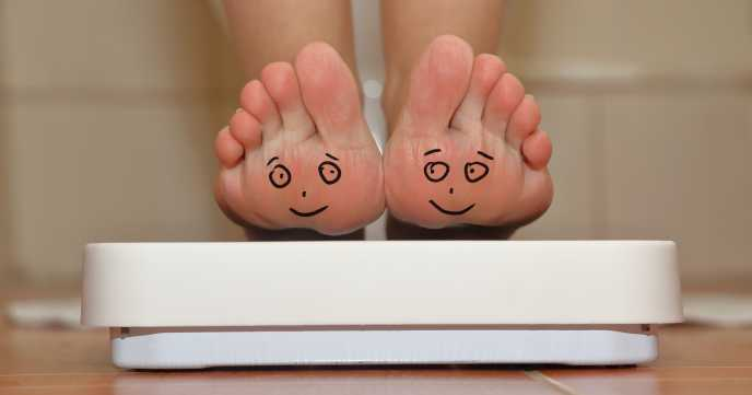 Happy Feet on Bathroom Scales