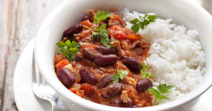 Healthy Chilli Con Carne with Rice