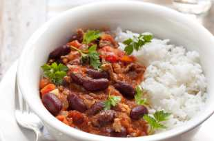 Mexican Beef Chilli Con Carne with Rice