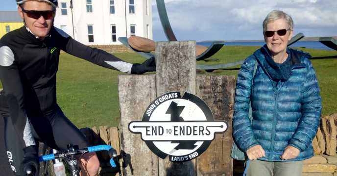 """Setting off end to end trip with stepson (I drove, he cycles) size 18 coat way too big"" Helen"
