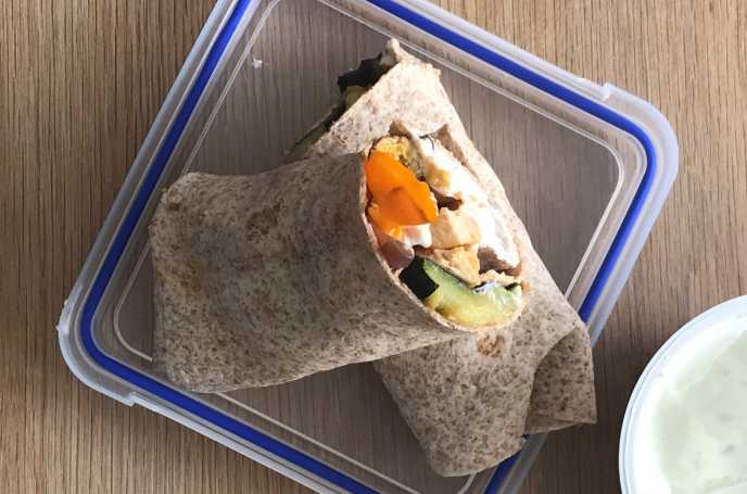 Roast Chicken and Vegetable Wrap
