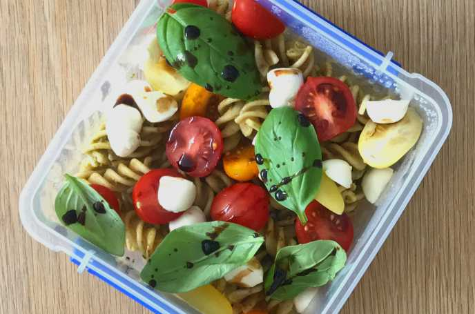 Pasta and Mozzarella Salad