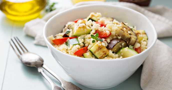 Roasted Mediterranean Vegetable Cous Cous