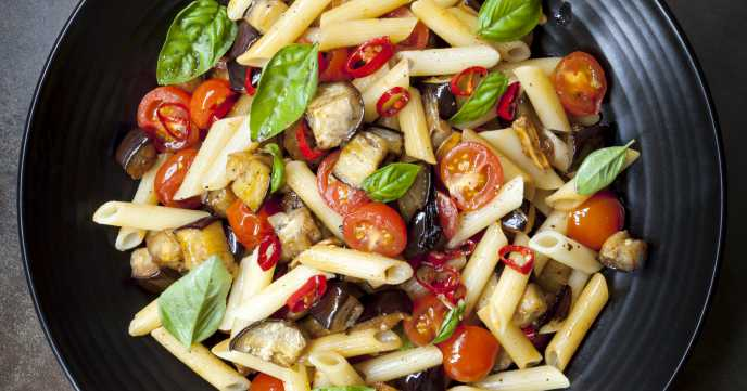 Roasted Mediterranean Vegetable Pasta