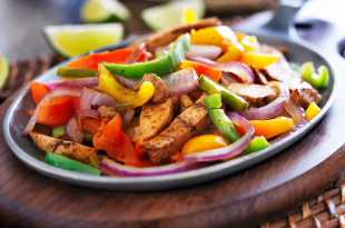 Chicken Fajitas and Potato Wedges