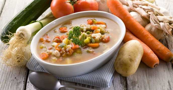 soup vegetable with ingredients