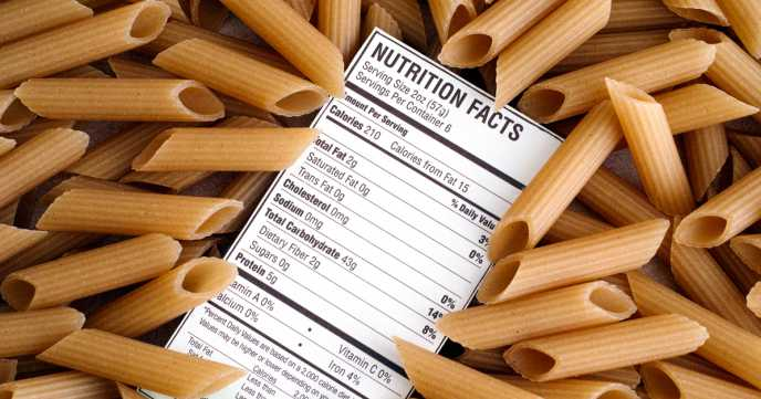 Check recommended serving sizes on packs