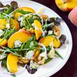 Peach, Stilton and Walnut Salad