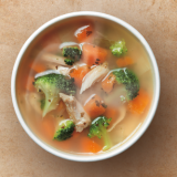 Prêt A Manger Chicken, Broccoli & Brown Rice Soup