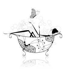 A nice relaxing bath with essential oils