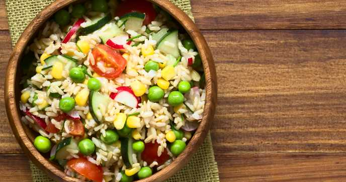 Brown Rice Salad in a bowl