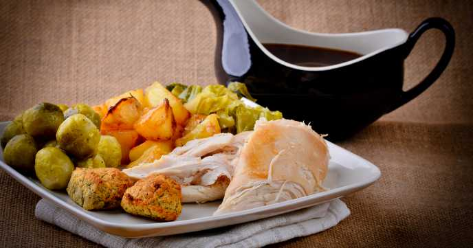 Roast Chicken and Stuffing Sunday Dinner