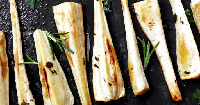 Roasted Maple Parsnips