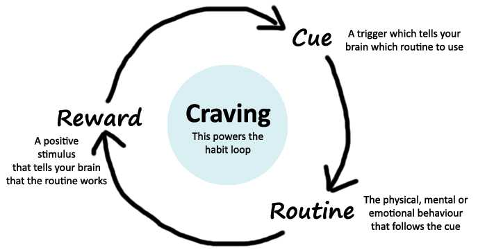 The Habit Loop - Cue > Routine > Reward