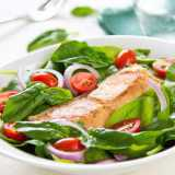 Salmon and Baby Spinach Salad