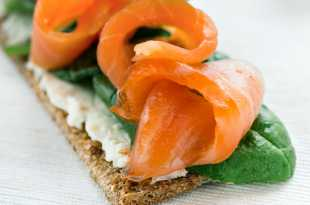 Ryvita with Smoked Salmon