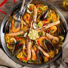 Low Fat Spanish Seafood Paella