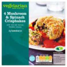 Mushroom and Spinach Crispbakes - Sainsburys Love Your Veg