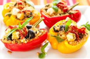 Peppers stuffed with couscous