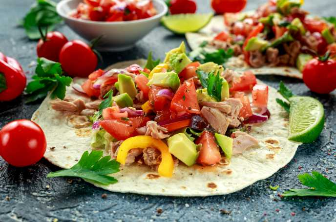 Tex Mex Tuna Wrap