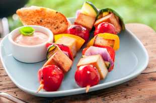 Tofu and Vegetables Kebabs
