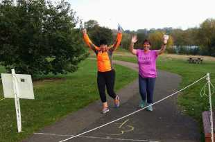 Trudi at the end of her 1st parkrun