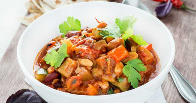 vegetarian chilli in a bowl