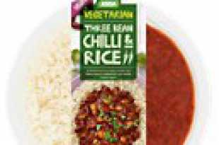 Vegetarian Three Bean Chilli & Rice