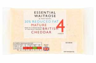 Waitrose Essential 30% Reduced Fat Mature Cheddar Strength 4