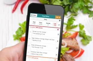 wlr Food Diary on Mobile Screen