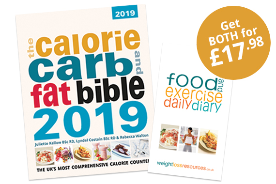 Calorie, Carb and Fat Bible with Food and Exercise Diary