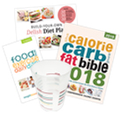 the wlr Bestsellers Bundle with Calorie Bible, Food Diary, Recipe Book and Portion pot