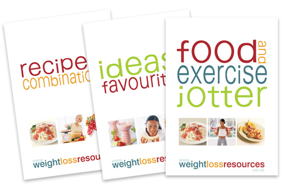 Calorie counting essential books - food jotter, favourites and recipes