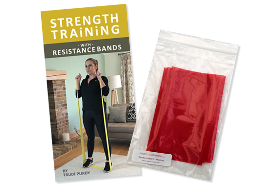 Strength training with resistance bands exercise book with medium resistance band