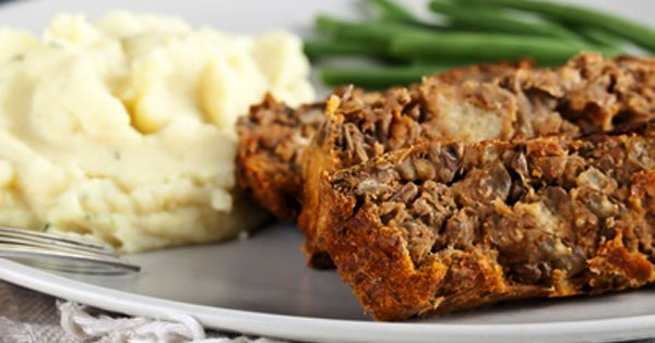 Spicy Bean No Meat Meatloaf